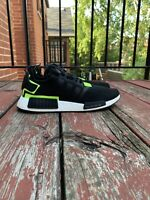 Adidas NMD_R1 Men's Running Shoes Black Volt Size 10 Excellent Condition!