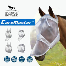 Harrison Howard Horse Fly Mask Hood Full Face No Ears Anti-Uv Silver