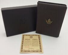 1986 Royal Canadian Mint $100 Gold Coin Proof Empty Leather Bown Box & COA*