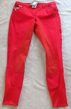 Esperado Damen Reithose, 3/4 Vollbesatz,Gr.84, rot , Modell Flag(1001 )