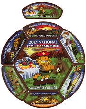 2017 Boy Scout Jamboree Sagamore Council JSP CSP Garfield Patch Set Lot BSA