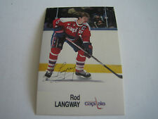 1988/89 ESSO NHL ALL-STAR COLLECTION ROD LANGWAY CARD***WASHINGTON CAPITALS***