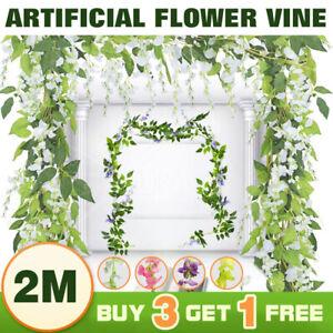 SpringUp Hanging Artificial Silk Wisteria Fake Garden Flowers Plants Vines Decor