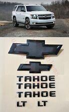 8PCS 2015-2020 Chevrolet Tahoe LT All Black Bowtie Emblems Front & Rear