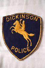 Vintage/Obsolete Dickinson North Dakota Police Department Patch - ND
