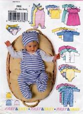 B5585 Butterick Sewing Pattern Baby Jacket Dress Top, Romper and Hat SIZE PRE