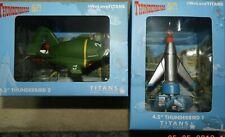 """Titans 4.5"""" Figures Thunderbirds Thunderbird 1 & Thunderbird 2 Birthday Price"""