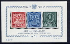 POLAND 1946 Education Fund block MNH