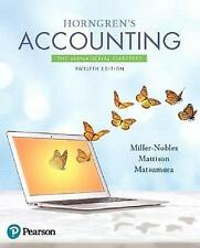 NEW Horngren's Accounting: The Managerial Chapters (12th Edition)