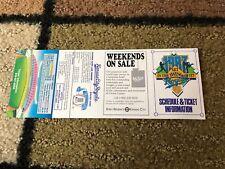 1987 MLB BASEBALL KANSAS CITY ROYALS POCKET SCHEDULE NM