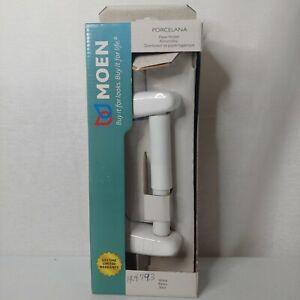 Moen Porcelana White Porcelain Toilet Paper Holder 9380W New In Damaged Box