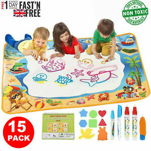 Water Doodle Mat Aqua Drawing Painting Mat Large 100 x 70cm Mess Free Learning