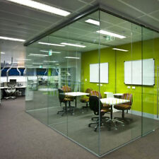 More details for glass wall partitions 10mm glass -office glass dividers - price beat guarantee