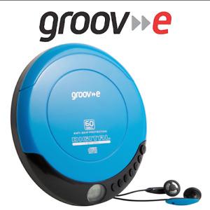Groov-e GVPS110BE Retro Series Personal Portable CD Player & Headphones - Blue