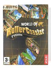6 Jeu Rollercoaster Tycoon 3 Deluxe Gold PC Roller coaster délires aquatique...