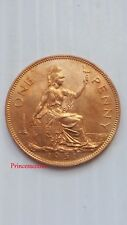 SCARCE*1951*UNC*GB KING GEORGE VI ONE PENNY 1D COIN KEY DATE FULL LUSTRE-#869