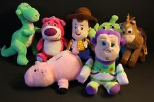 1 Set of Top Quality 7 Pcs of Toy Story Soft Plushes Woody, Buzz, Bear, Rex More