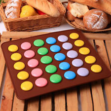 Round Sheet Mat Cake Mold Pastry Oven 30-Cavity Baking Mould Silicone Macaron