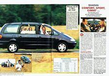 PUBLICITE ADVERTISING 116  1997   Volkswagen  (2p)  le Sharan Carat