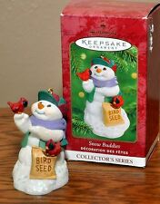 Hallmark Keepsake Ornament 2000 Snow Buddies 3rd In Series Snowman W/Birdseed
