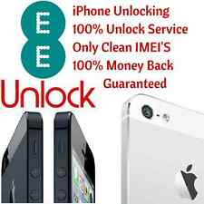 EE Network UK iPhone 4 4S 5 5S 5C 6 6+ 6S 6S+ Official Factory Unlock Service