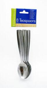 Stainless Steel Small Espresso Tea-Spoon - Pack Of 8 Metal Spoons ( Teaspoons )