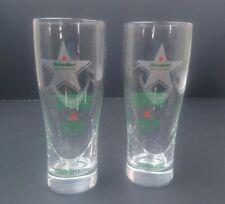 Pair of Heineken Open Your World Beer Glasses