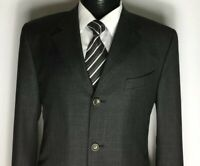 CANALI Proposta Italian GREY PRINCE OF WALES CHECK Wool 3Btn Suit,Size 42RW34L29