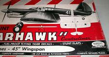 Vintage P-40 BLACK TIGER UC OTS TWO PLANS + Air Trails Model Airplane Article
