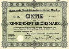 Amperwerke Elektricitäts-AG 100 RM 1932 Monaco