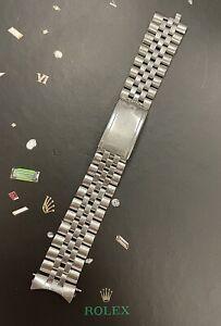 Rolex Datejust 20mm Men's Jubilee Bracelet Steel Crown Band 6251H Ref 1601 1603