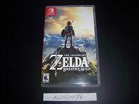 Replacement Case Legend of Zelda Breath of the Wild Nintendo Switch Box Original
