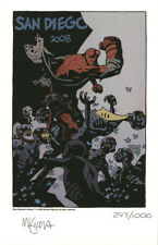 Mike Mignola SIGNED AUTOGRAPHED HELLBOY 2008 SDCC Print LE 1000 *VERY RARE*