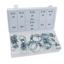26 pièce heavy duty jubilee clip collier serrage assortis zinc plaqué set tool box