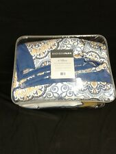 Madison Park - Tangiers 6 Piece Set- Quilted - Blue - King/Cal K - Medallion .