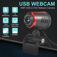 5Mp HD Webcam Web Cam Camera Webcam USB 2.0 With Mic For Computer Desk Laptop PC