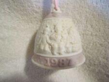 Lladro 1987 Christmas Bell Ornament, Campanita Navidad, #5.458, Orig Box, Guc