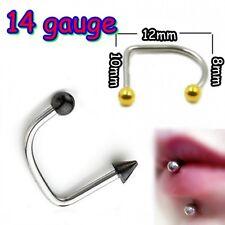 1 x Lip Loop Black Balls Lip Labret Monroe Bar Stud FREE Aussie Post*