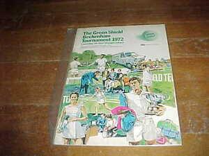 1972 The Green Shield Beckenham Kent Championship Tennis Program