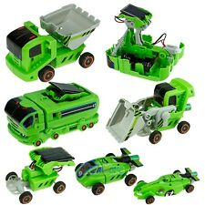 7 In 1 Rechargeable Solar Powered Car Kit Educational Toy Kids DIY Science Toy