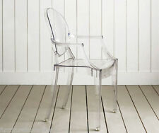 SET OF 4 Louis inspired ghost chair with arms