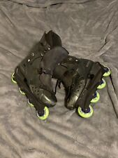 Vision Ultra Wheel Sz 14 Roller Blades. Left Boot Broken. Wheels Slightly Used