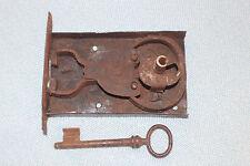 Schloss mit Schlüssel Truhe Barock Dornmaß 110 mm Truhenschloss  * 2616