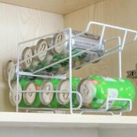 Can Tin Fridge Storage Box Container Dispenser Holder Rack Home Kitchen Organize