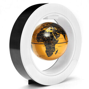 World Map 4 inch Floating Golden Suspended Mysterious Magnetic World Map Craft