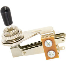 NEW Right Angle 3-Way Toggle Switch for 3-Pickups - Made in Japan - BLACK KNOB