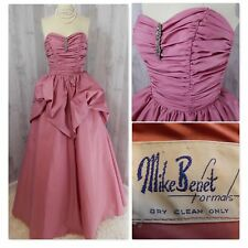 49802ef45635d Vintage CUPCAKE DRESS~Pink PROM PARTY BALL GOWN Strapless Ruched Mike Benet  S XS