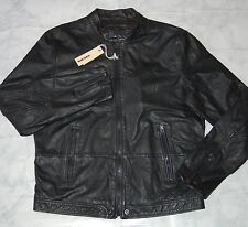 Diesel Men's L-Franklin Leather Jacket, Black, 00SP4V0AAMF, Size XXL
