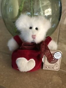 """Boyds Bears T.L.C. SPARKLEBEAR #82016 2001 Plush 6"""" Valentine🐻In Red Tote NWT❤️"""