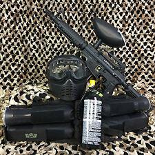 Tippmann Us Army Alpha Black Elite w/ E-Trigger Epic Paintball Gun Package Kit